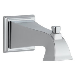 Delta - Delta RP52148 Dryden Tub Spout - Pull-Up Diverter in Chrome - Delta RP52148 Dryden Tub Spout - Pull-Up Diverter in ChromeThe clean lines and geometric forms of the Dryden Collection are based on style cues of the Art Deco period.  Getting ready in the morning is far from routine when you are surrounded by a bath that reflects your personal style.  Sometimes accessories make all the difference and that's why Delta offers a variety of bath accessory items.  The simple, yet sophisticated design of the Dryden Collection is available in a full suite of products that's at home in settings from old-world to arts and crafts to modern.Delta RP52148 Dryden Tub Spout - Pull-Up Diverter in Chrome, Features:• Chrome