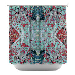 DiaNoche Designs - Shower Curtain Artistic - Snowy Evening - DiaNoche Designs works with artists from around the world to bring unique, artistic products to decorate all aspects of your home.  Our designer Shower Curtains will be the talk of every guest to visit your bathroom!  Our Shower Curtains have Sewn reinforced holes for curtain rings, Shower Curtain Rings Not Included.  Dye Sublimation printing adheres the ink to the material for long life and durability. Machine Wash upon arrival for maximum softness on cold and dry low.  Printed in USA.