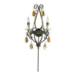 Cyan Design - Cyan Design Dorato Two Light Wall Sconce - Dorato Two Light Wall Sconce with Candle Shaped Bulbs.