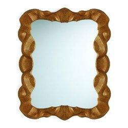 Baroque Antiqued Gold Leaf Plain Mirror -