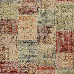 """KAS - KAS Reflections 7420 Patchwork (Multi) 6'7"""" x 9'6"""" Rug - This Machine Made rug would make a great addition to any room in the house. The plush feel and durability of this rug will make it a must for your home. Free Shipping - Quick Delivery - Satisfaction Guaranteed"""