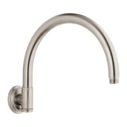 Grohe - Grohe 28383EN0 Retro Shower Arm In Infinity Brushed Nickel - Grohe 28383EN0 from the Rainshower Heads and Accessories add a new level of performance to your shower. The Grohe 28383EN0 is a Retro Shower Arm With a Brushed Nickel Finish for an appearance set apart from the traditional chrome.