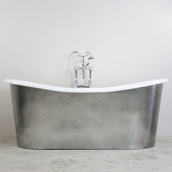 "2014 Cast Iron Bathtubs - 'The Sempringham' 73"" Cast Iron French Bateau Tub Package"