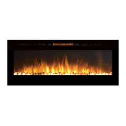 """Moda Flame - Moda Flame 60"""" Cynergy XL Crystal Stone Built-In Wall Mounted Electric Fireplace - If you want to add a dynamic and vivacious vibe to a room, the built-in Destiny Crystal Cynergy fireplace will do that and more. Its perfect length and proportion, as well as sleek design makes it the showpiece of any room. The realistic flame pattern coupled with its innovative style crystals, makes the Cynergy fireplace the most revolutionized and cutting-edge on the market."""