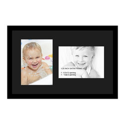 ArtToFrames - ArtToFrames Collage Photo Frame  with 2 - 8.5x12 Openings and Satin Black Frame - Your one-of-a-kind photos deserve one-of-a-kind frames, but visiting a custom frame shop can be time consuming and expensive. ArtToFrames extensive and growing line of inexpensive multi opening Photo Mats will get you the look you want at a price you can afford. Our Photo Mats come in a variety of sizes and colors and can be custom made to your needs. Frame choices range from traditional to contemporary, with both single and multiple photo opening mat options. With our large selection of custom frame and mat choices, the design possibilities are limitless. When you're done, you'll have a unique custom framed photo that will look like you spent a fortune at a frame shop. Your frame will be delivered directly to your front door or sent as a gift straight to your recipient.