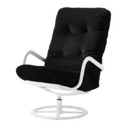 Ulf Quensel - SMEDSTA Swivel chair - Swivel chair, white, Leaby black