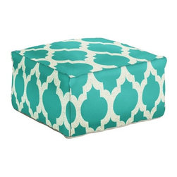 Surya Pouf 153 Ocean and White - Surya Pouf 153 Ocean and White