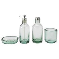Modern Bathroom Accessories Seafoam Green glass bath set