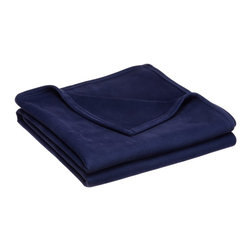 Vellux - Westpoint Stevens Vellux Blanket, Navy Blue - Cozy up in the velvety softness of a Vellux blanket. Perfect for use year-round, this blanket provides warmth without a lot of weight. Its easy-care, durability and hypo-allergenic properties make this blanket a terrific choice for every bed in the house. Will not shed or pill. Hypo-allergenic. Becomes softer after every wash. Machine wash. Care Instructions: Tumble dry.