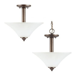 Sea Gull Lighting - Sea Gull Lighting 79806BLE Fluorescent Holman Two Light Semi-Flush Energy Star a - The hallmark of the Holman Collection is versatility and affordability. Many of the fixtures have adjustable arms that allow lights to be mounted up or down.Features:
