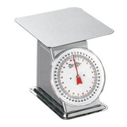Weston - Flat Top Dial Scale - 44 lb. Flat Top Dial Scale. Quality Stainless Steel construction makes it easy to clean and protects against rust and corrosion. Large, flat weighing platform makes it ideal for weighing small portions or entire meat tubs. Eliminates guess-work when proportioning out meat.