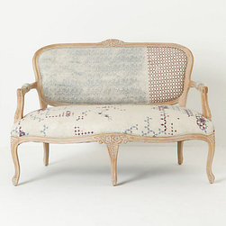 Louisa Settee, Faded Star - This hand-painted settee by Florence-based artist Draga Obradovic would be the perfect starting point for filling your home with pieces inspired by illustration and graphic design. I love the combination of historical settee design contrasted with the contemporary upholstery.