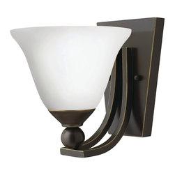 Hinkley Lighting - Hinkley Lighting 4650OB-OPAL Bolla Olde Bronze Wall Sconce - Hinkley Lighting 4650OB-OPAL Bolla Olde Bronze Wall Sconce