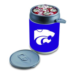 Picnic Time - Kansas State Can Cooler - The Can Cooler by Picnic Time is a hard-sided cooler and large beverage can replica that also doubles as a seat. It holds ten 12-oz. cans and has a 9 quart capacity. It features a snugly fitting, fully removable lid and folding handle. Perfect for the beach, patio, tailgating, parties, and sporting events. ; College Name: Kansas State; Mascot: Wildcats; Decoration: Digital Print; Includes: 1 removable lid