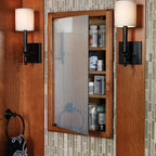 Medicine Cabinet - A mirrored medicine cabinet offers storage for toothbrushes and small bottles right where you look every day.
