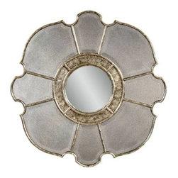 Bassett Mirror - Nevis Antique Mirror and Convex Center Wall Mirror - Nevis Antique Mirror and Convex Center Wall Mirror by Bassett Mirror