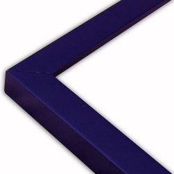 The Frame Guys - Narrow Flat Navy Blue Picture Frame-Solid Wood, 9x9 - *Narrow Flat Navy Blue Picture Frame-Solid Wood, 9x9