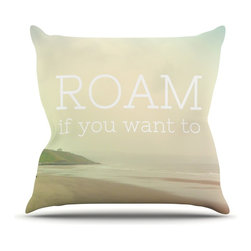 "Kess InHouse - Alison Coxon ""Roam"" Ocean Throw Pillow (20"" x 20"") - Rest among the art you love. Transform your hang out room into a hip gallery, that's also comfortable. With this pillow you can create an environment that reflects your unique style. It's amazing what a throw pillow can do to complete a room. (Kess InHouse is not responsible for pillow fighting that may occur as the result of creative stimulation)."