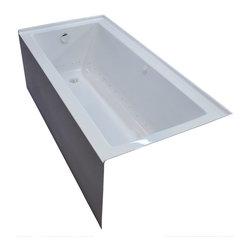 Arista - Pontormo 30 x 60 Front Skirted Air Massage Drop-In Bathtub with Left Drain - DESCRIPTION