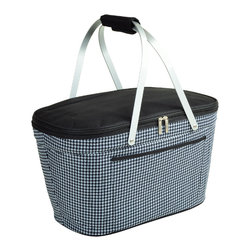 Picnic at Ascot - Houndstooth Pattern Collapsible Cooler - Features: