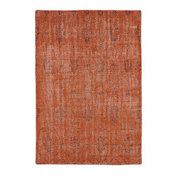 Kaleen Rugs - Restoration Pumpkin Rectangular: 5 Ft. 6 In. x 8 Ft. 6 In. Rug - - The Restoration collection puts the finishing touches on a classic reproduction for some of the most unique rugs in the world. Hand-knotted in India of 100% wool, each rug is intentionally distressed by hand-shearing for authenticity, over-dyed colors for beautiful style, and complete with the smallest little details for the perfect replica of a vintage antique rug. A 100% natural green product and completely free of any latex materials  - Classic Reproduction  - Hand-Knotted Antique Replica  - Pile Height: 0.12-Inch  - Square Feet: 46.75  - Cleaning/Care: Spot clean as needed or for best results please contact a local area rug cleaning professional  - Detailed Rug Colors: Orange and Brown Kaleen Rugs - RES01-31-5686
