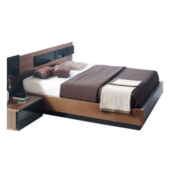 ESF Furniture - Jana Platform Bed with Wooden Slats Frame By ST, Spain, King - The smooth lines and distinctive contemporary design of the Jana Platform Bed with Wooden Slats Frame distributed by ESF will lend the mood and harmony to the decor of your stylish bedroom, which you will have a hard time leaving.