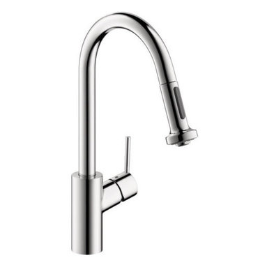 Hansgrohe - Hansgrohe Talis S² HighArc Kitchen Faucet in Chrome - This is a brand new kitchen faucet from Hansgrohe (model # 14877001). In homes today, there's a place undergoing a radical transformation of uncompromising style-- the kitchen. This is the second most occupied place in modern dwellings. This Hangrohe kitchen faucet offers remarkable functionality with individual personality and style. The modern design coordinates flawlessly with any kitchen decor.