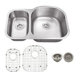 Schon - Schon 18-Gauge 31 1/2 x 20 1/2 30/70 Sink - SC3070RV18 18 Gauge Schon Undermount Sink Stainless Steel 30/70 Sink 31 1/2 x 20 1/2, Grids, Strainers