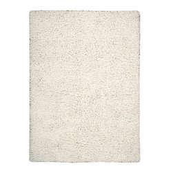 """Nourison - Nourison Zen ZEN01 (White) 5'6"""" x 7'5"""" Rug - The shag is back with Zen. This hip, eclectic shag rug looks and feels fabulous. The collection features a luxurious, soft pile and rich, lustrous colors. These super-plush and funky rugs provide a unique decorating option."""