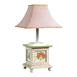 Teamson Design - Teamson Design Crackled Rose Room Hand Painted Girl's Desk Lamp - Teamson Design - Table Lamps - W5069G. This is a very cute desk lamp hand painted in out crackle finish pink theme. Very cute for her room!