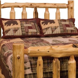 "Fireside Lodge - Traditional Cedar Log Slat Headboard - Each product is hand peeled, which leaves the natural character and beauty of the log intact and gives a more rustic appearance. Features: -Northern white cedar logs.-Individually handcrafted.-King and Queen beds come standard with a T-support.-Full log side rails for sturdy construction.-Clear coat catalyzed lacquer finish for extra durability.-Traditional Cedar Log collection.-Distressed: No.-Country of Manufacture: United States.Dimensions: -Twin: 60"" H x 44"" W x 6"" D.-Full: 60"" H x 59"" W x 6"" D.-Queen: 60"" H x 65"" W x 6"" D.-King: 62"" H x83"" W x 6"" D.-California King: 62"" H x 77"" W x 6"" D.Warranty: -Manufacturer provides limited lifetime warranty against manufacturer defects."