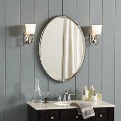 Ballard Designs Mercer Bath Mirror Hand Finished In