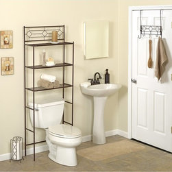 Zenith Products - Zenith Diamond BBHB75 Bath in a Box - Oil Rubbed Bronze - BBHB75 - Shop for Bathroom Etageres Racks and Space Savers from Hayneedle.com! The Zenith Diamond BBHB75 Bath in a Box - Oil Rubbed Bronze comes with three matching pieces that will improve the way you organize your bathroom.About ZenithZenith Products Corporation is America's leading manufacturer of bathroom storage and organizational products for the retail market. Zenith offers a wide line of items and accessories that are both attractive and functional. Customers can choose from bath furniture in a variety of finishes materials sizes and designs. These products are complemented by matching space-savers tank-toppers and storage items that enable homeowners to make maximum use of bathroom space. Zenith helps decorate and organize bath and shower enclosures with its patented Twist-Tight curtain rods and broad range of shower caddies and lotion dispensers available in a wide array of styles and colors. Based in New Castle Del. Zenith products are distributed nationwide through home centers bath specialty shops mass merchants and catalog retailers.