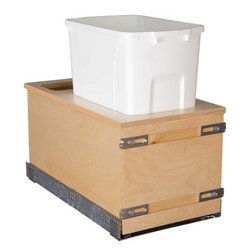 "Century Components - Century Components 50 Qt Single Soft Close Pull Out Waste Bin - Birch, 11-7/8"" - 50 Qt Single Soft Close Blum Bottom Mount Kitchen Pull Out Waste Bin Container - 11-7/8""W x 23-5/8""H x 22-1/2""D. This unit is designed to be inserted into a new or existing cabinet with an opening width of 12""-15"". Century Components CASBM11PF-50 is made from Baltic Birch Plywood with Dovetail Construction and a clear natural finish for great appearance, quality and durability."