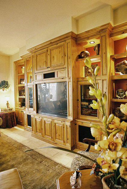 Traditional Home Theater by Haak Designs LLC