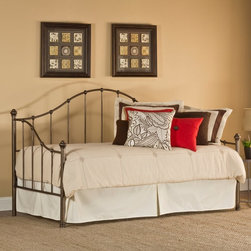 Hillsdale Furniture - Hillsdale Amy Metal Daybed - 1271DBLH - Shop for Daybeds from Hayneedle.com! Sweet and simple the Hillsdale Amy Metal Daybed makes your multi-use room stylish. This classic daybed features a durable metal frame in an updated weathered steel finish. It's an easy fit for any design aesthetic. This daybed has a compact twin size traditional vertical bar styling and is graced with a curving back detail. Perfect for dressing up with sumptuous bed linens or down for a casual look. Some assembly required. Add on the suspension deck (included on all configurations) or the optional roll-out trundle to make this daybed even more functional. About Hillsdale FurnitureLocated in Louisville Ky. Hillsdale Furniture is a leader in top-quality affordable bedroom furniture. Since 1994 Hillsdale has combined the talents of nationally recognized designers and globally accredited factories to bring you furniture styling and design from around the globe. Hillsdale combines the best in finishes materials and designs to bring both beauty and value with every piece. The combination of top-quality metal wood stone and leather has given Hillsdale the reputation for leading-edge styling and concepts.