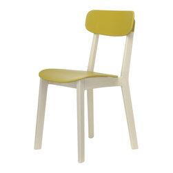 Calligaris - Cream Stuhl - Cream Tisch und Stuhl. Unprätentiöse Gebrauchsmöbel in hochwertiger Materialausführung, so knapp wird über den puristischen Entwurf aus dem Mr. Smith Studio für den italienischen Hersteller Calligaris geurteilt. Zwar eine Rolle rückwärts zu bewährtem Design der vorigen Jahrhundertmitte, sticht die Essgruppe doch nicht nur mit ihrer äußerst stabilen Unterkonstruktionen aus massiver Buche – in gebleicht oder graphitfarben lackiert – hervor. Überzeugend sind die gewählten Nutzoberflächen: Der Küchenstuhl glänzt mit ergonomisch geformten Kunststoff, der Esstisch blitzt mit strapazierfähiger MDF-Platte.Cream Stuhl. Auf diesem klassischen Küchenstuhl von Calligaris wird Sitzen selbst bei langen Schnibbelarbeiten ein Vergnügen: Sitz und Rückenlehne des Stuhls bestehen aus widerstandsfähigem Polypropylen-Kunststoff (Sitzhöhe 45,5 cm), lassen also alle Kleckereien beim Arbeiten und Essen ungeschadet an sich abputzen.