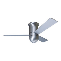 """Modern Fan - 42"""" Modern Fan Cirrus Aluminum Finish Hugger Ceiling Fan - A clean 42"""" hugger-style ceiling fan from the Cirrus Collection in a shiny aluminum finish with three aluminum blades. From Modern Fan Company. Includes a 4-speed wall control for fan speed only. Induction motor with limited lifetime warranty. 42"""" blade span. 14 degree blade pitch. (UM)  Aluminum finish.   Three matching blades.  Limited lifetime motor warranty.   42"""" blade span.   14 degree blade pitch.  Fan height 13"""" blade to ceiling.  Includes a 4-speed wall control for fan speed only."""