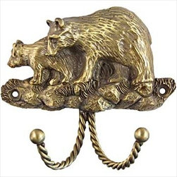 Sierra Lifestyles Decorative Hook - Black Bear - Antique Brass - Get Idea About Sierra Lifestyles Decorative Hook - Black Bear - Antique Brass, Sierra Lifestyles  Cabinet Hardware, Cabinet  Knobs, Cabinet Pulls , Switch plates, Rustic cabinet hardware, Double Hook, Hook, Decorative Hook, Knobs, Pulls and Decorative Hardware Accessories