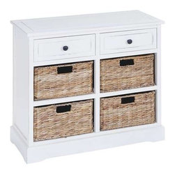 """Benzara - Basket Cabinet with Fine Detailing in Exclusive White Color - Basket Cabinet with Fine Detailing in Exclusive White Color. Revamp your home with wood Basket cabinet with Fine detailing in Exclusive white Color and make your home a better place for living. It comes with a following dimensions 30""""W x 13""""D 28""""H. 12 1/2""""W x 11""""D x 7""""H."""