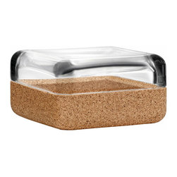 "Iittala - Vitriini Box 4.25"" x 4.25"" Clear/Cork - A virtuoso of versatility, Anu Penttinen's gorgeous glass box makes a gem of jewelry storage. Place it on a hallway table to store your keys or add a splash of color in the bath. Wherever you display it, you won't want to keep this teeny tiny treasure chest hidden."