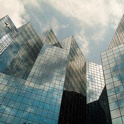 Magic Murals - Glass Building Sky Reflections Wallpaper Wall Mural - Self-Adhesive - Multiple S - Glass Building Sky Reflections Wall Mural