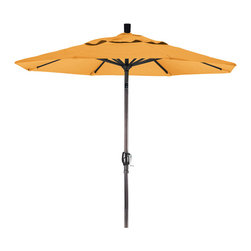 California Umbrella - 7.5 Foot Pacifica Aluminum Crank Lift Push Tilt Market Umbrella, Bronze Pole - California Umbrella, Inc. has been producing high quality patio umbrellas and frames for over 50-years. The California Umbrella trademark is immediately recognized for its standard in engineering and innovation among all brands in the United States. As a leader in the industry, they strive to provide you with products and service that will satisfy even the most demanding consumers.