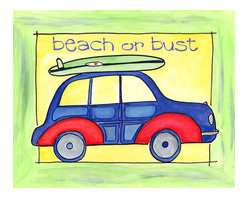 Oh How Cute Kids by Serena Bowman - Beach or Bust, Ready To Hang Canvas Kid's Wall Decor, 16 X 20 - Come on Sunshine and Warm Weather!!