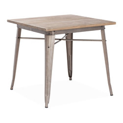 Zuo Modern - Titus Dining Table - This table has a solid reclaimed wood top with a solid steel frame in a faux rust galvanized steel finish.