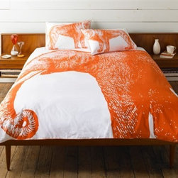 Thomas Paul Elephant Twin and Queen Duvet Cover - Alcazar - Thomas Paul Elephant Twin and Queen Duvet Cover - Alcazar