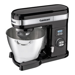 Cuisinart - Cuisinart 5.5-Quart. 12-Speed 800-Watt Stand Mixer - Die-cast metal construction and 5.5 quart Stainless Steel bowl with handles