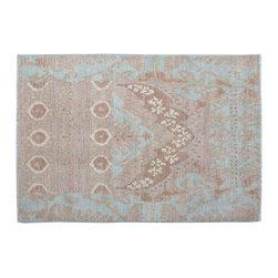 1800-Get-A-Rug - Oriental Rug Ikat Hand Knotted Rug Uzbek Design Sh11777 - About Wool Pile