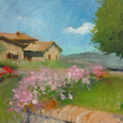 """Tuscan House"" (Original) By Jo Cataldo - Another Summer Day In Tuscany Outside Of Sienna....You Can Almost Hear The Birds Chirping And The Buzz Of The Mosca!"