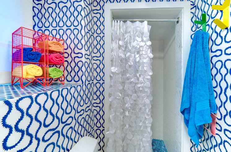 Room of the Day: A Small Bath with Big Ideas and a Bold Look